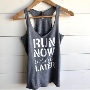 NEXT LEVEL Run Now Wine Later Tank Top